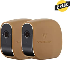 Wasserstein Silicone Skins Compatible with eufyCam E Wireless Security Camera - Help Camouflage and Accessorize Your Home Security Camera (2-Pack, Brown)