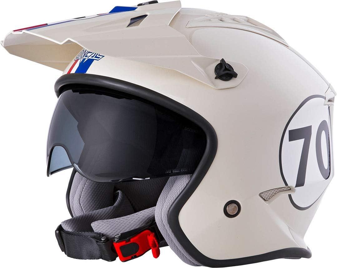 Oneal Volt Helmet Herbie White//Red//Blue XS Erwachsene 53//54 cm Unisex Motorradhelm MX-Motocross