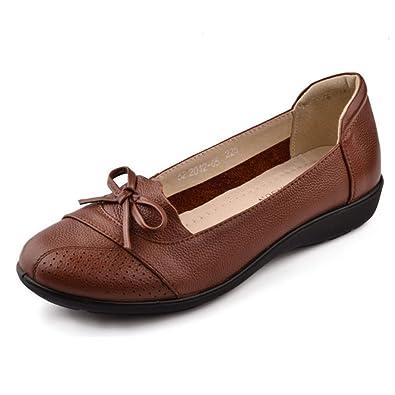 Head light shoes/ grandes chaussures semelle souple/ plat chaussures à talons/Chaussures de maman-A Longueur du pied=21.8CM(8.6Inch) OAReBuK