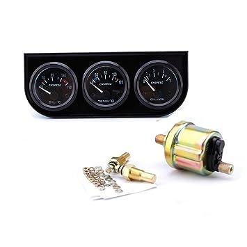 RUNGAO - Juego de sensores de medidor automático de coche de 52 mm, triple calibre