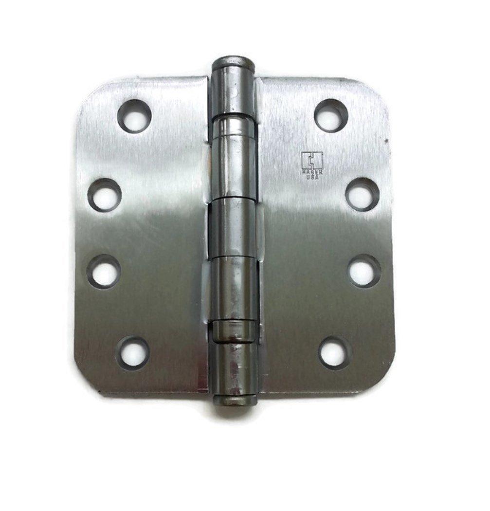 Hager Full Mortise Steel Hinge RC-BB1279 4.0 x 4.0 US26D/652 (Satin Chrome) 5/8'' Radius Corners - Box of 3 Ball Bearing hinges