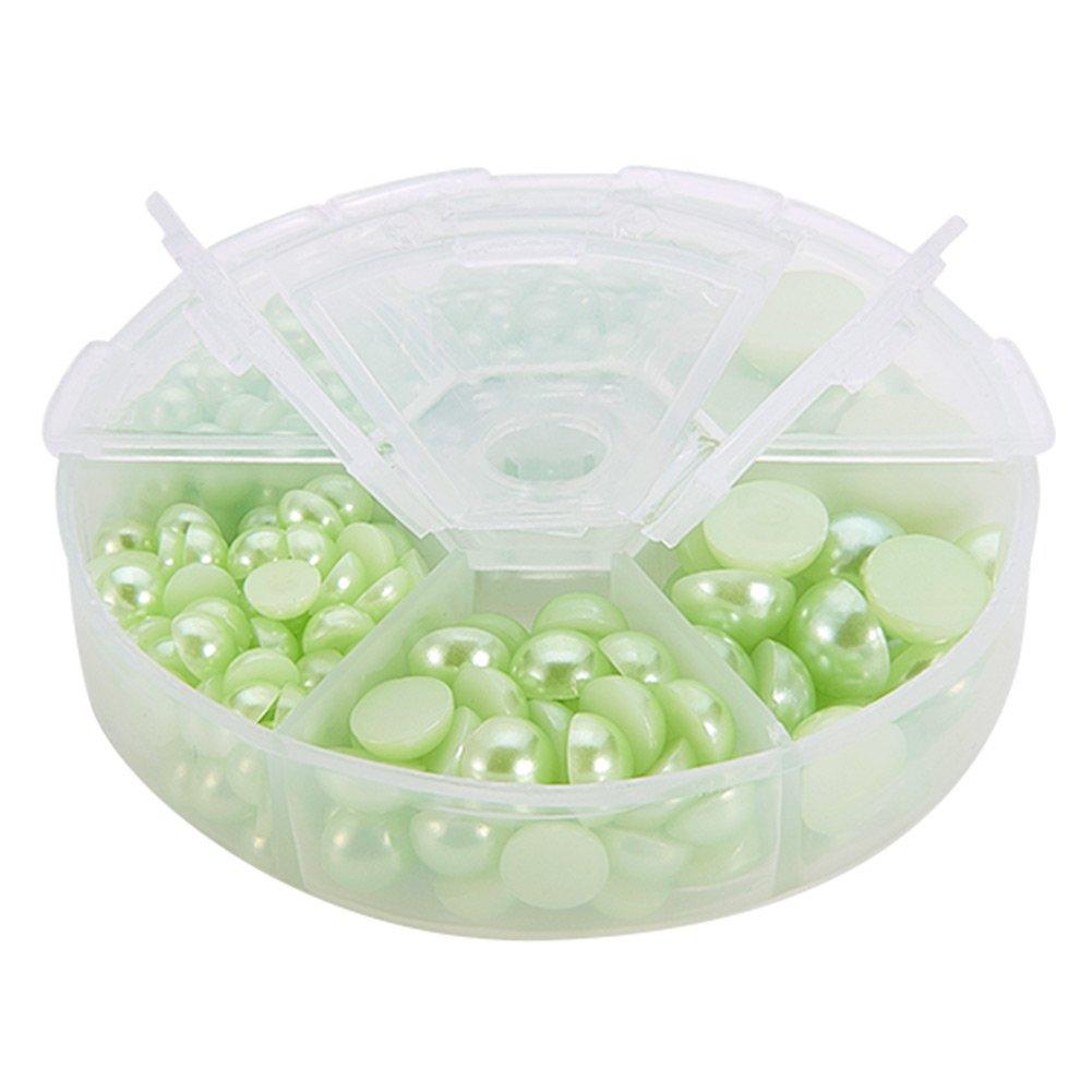semi-cil/índricas PandaHall Elite/ /Juego de perlas de imitaci/ón 4x2mm acr/ílico 4/x 2/mm Couleur Melangee 1 18/colores acr/ílico ABS