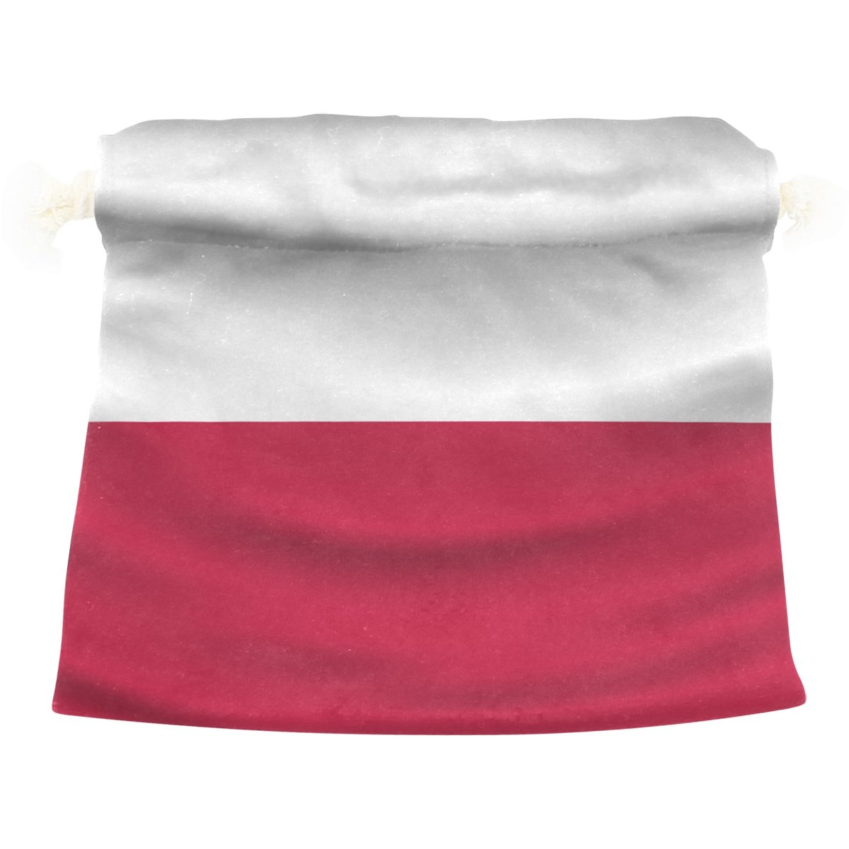 super3Dprinted Poland Flag Velvet Drawstring Gift Bag Wrap Present Pouch Favor for Party Game Wedding, Multiple Sizes Available