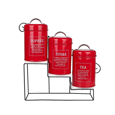 Amazon Hot Sale X40 Set Of 40 Vintage Red Metal Coffee Sugar Magnificent Tea Set Display Stand For Sale
