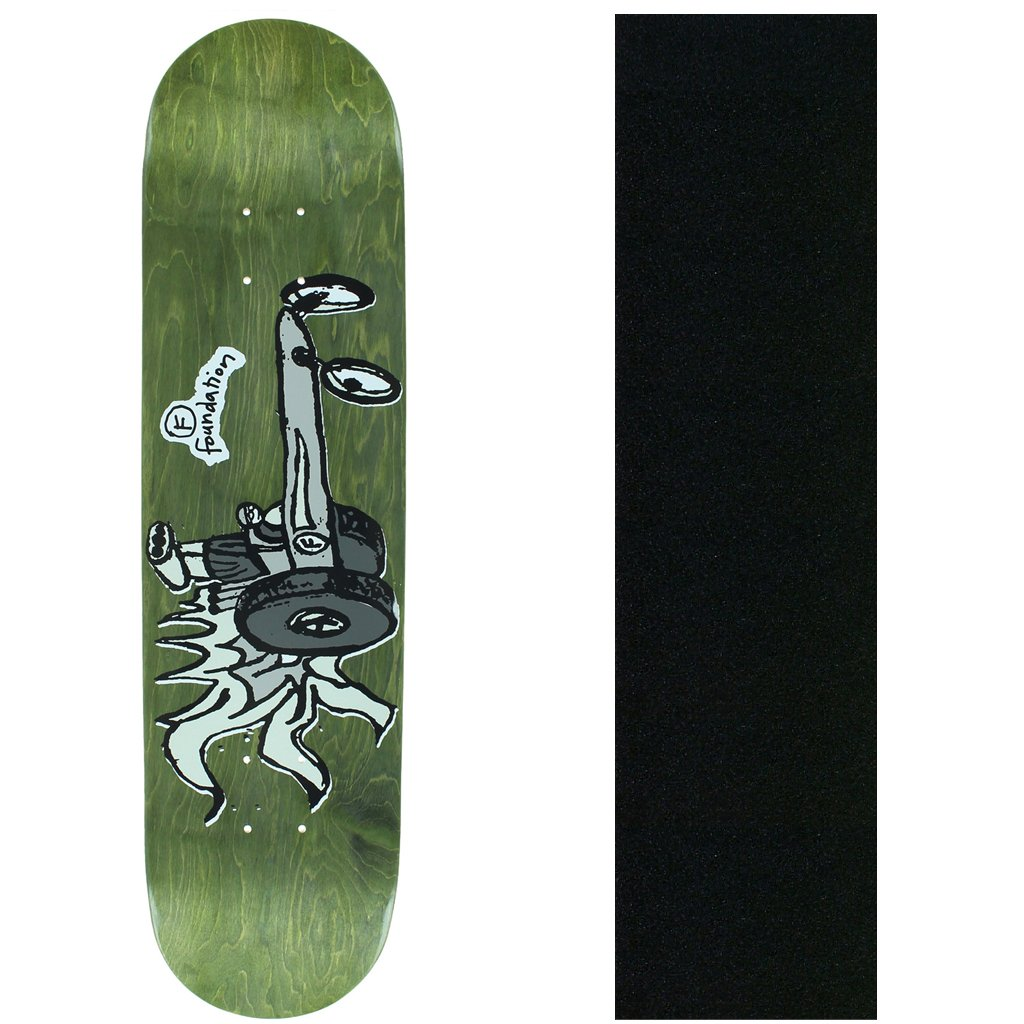 FOUNDATION Skateboard Deck RACE FOR FUN (assorted colors) 8.125''+ Grip