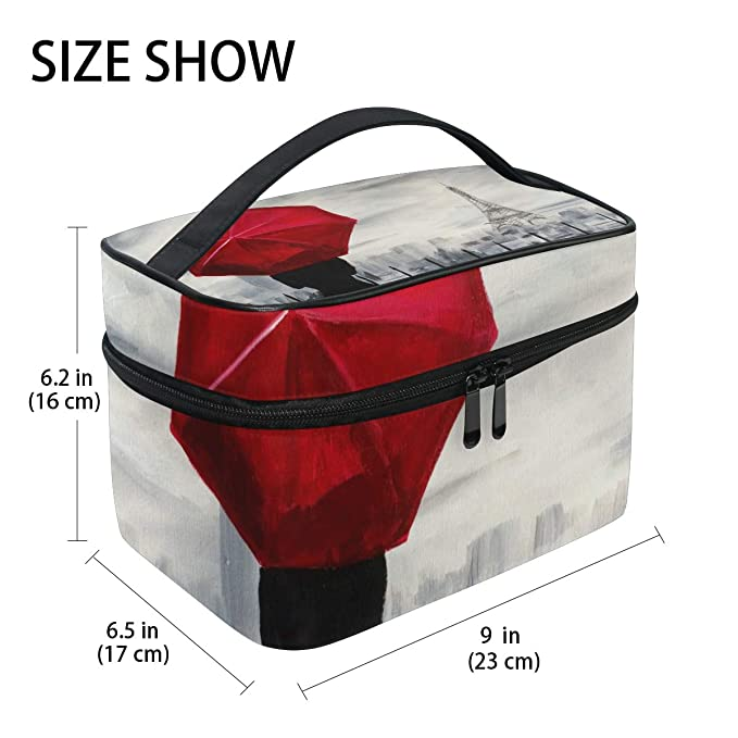 dfb986eddaa3 Amazon.com: All agree Toiletry Bag Art Rave-Raindrops Paris Womens ...