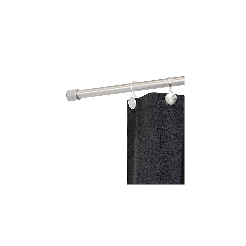 iDesign tringle extensible pour rideau de douche tringle rideau douche sans per/çage pour douche ou baignoire extra-petite barre de douche en acier inoxydable argent/é mat