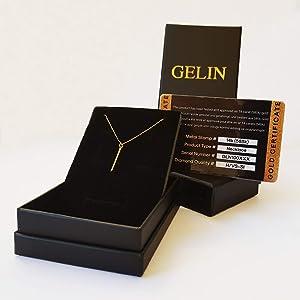 Amazon.com: Gelin - Cadena de oro de 14 quilates para mujer ...
