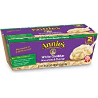 Annie's White Cheddar Microwavable Macaroni & Cheese, 2 Count per pack, 4.02 Ounce