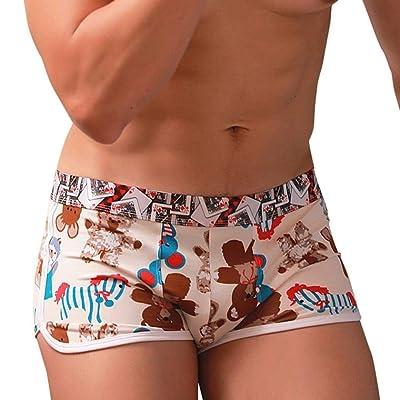4b4786d207 Bande Dessinée Imprimé Bulge Hommes Underpants Shorts Hommes Único Boxer  Ner Hommes Coton Base Stretch Respirant