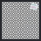 PinPix decorative pin cork bulletin board made from high quality canvas, Geometric Virtual Lattice Design printed at 20x20 Inches and framed in Satin Black (PinPix-186)