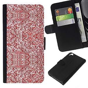 Be-Star la tarjeta de CršŠdito Slots PU Funda de cuero Monedero caso cubierta de piel Para HTC Desire 820 ( Rot )