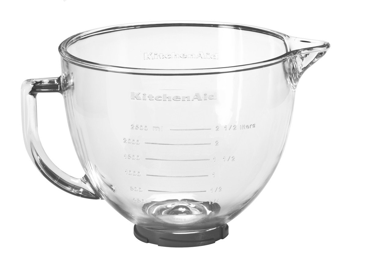 KitchenAid 5K5GB Glass Bowl, 4.8 Litre (Optional Accessory For KitchenAid  Stand Mixers): Amazon.co.uk: Kitchen U0026 Home