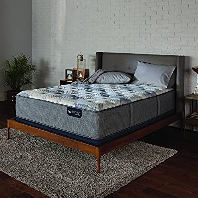 "Serta Icomfort 500820782-1010 Hybrid 13"" Blue Fusion 200 Plush Conventional Bed Mattress, Twin, Gray"