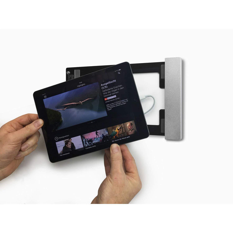 1.Gen + 2.Gen Abschlie/ßbare Wandhalterung und Ladestation zur dauerhaften Installation f/ür Apple iPad Apple Pro 12,9 smart things s13 s sDock Fix Silber