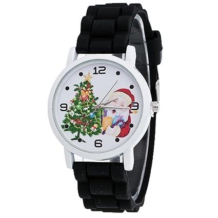 Relojes Niños,Xinan Colorido Reloj de Pulsera Silicona Moda (Negro)