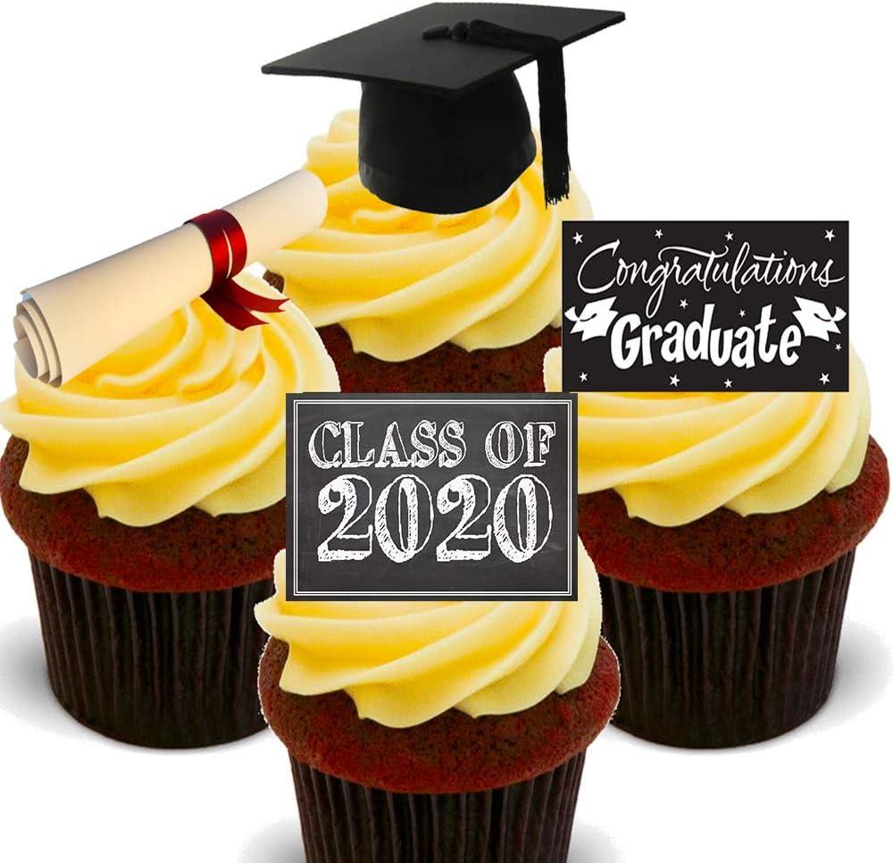 Graduation Cap /& Books Purple ~ Edible 2D Fondant Cake Cupcake Topper ~ D5921 *