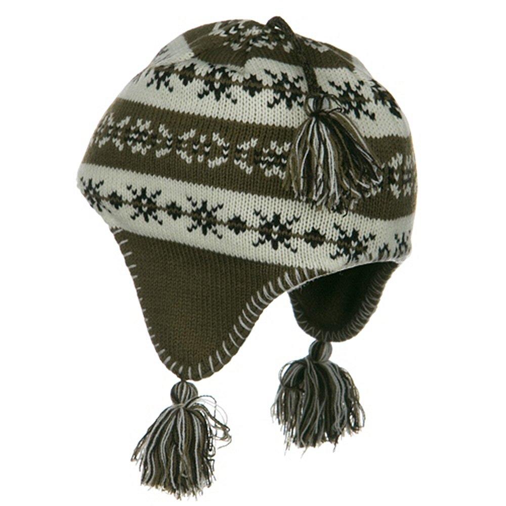 G/&S Girls Knit Helmet Brown