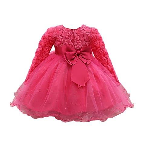 ❤ Amlaiworld Falda niña Flor Vestido de princesa de bebé Niñas Vestido de boda de ...