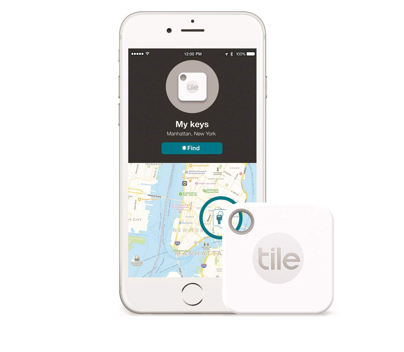Tile Mate with Replaceable Battery and Tile Slim