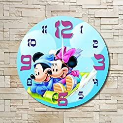 The Mickey Mouse 11.8'' Handmade Wall Clock - Get unique décor for home or office – Best gift ideas for kids, friends, parents and your soul mates