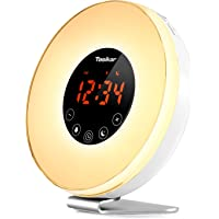 Tasikar Alarm Clock Wake Up Light Digital Alarm Clock with Sunrise and Sunset Simulation Multiple Nature Sounds