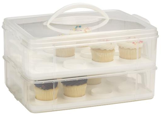 Snap 'n Stack 2-Tier Cupcake Carrier | The Container Store