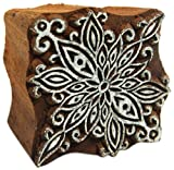 OOLY Blockwallah Wooden Stamp, Poinsettia Flower