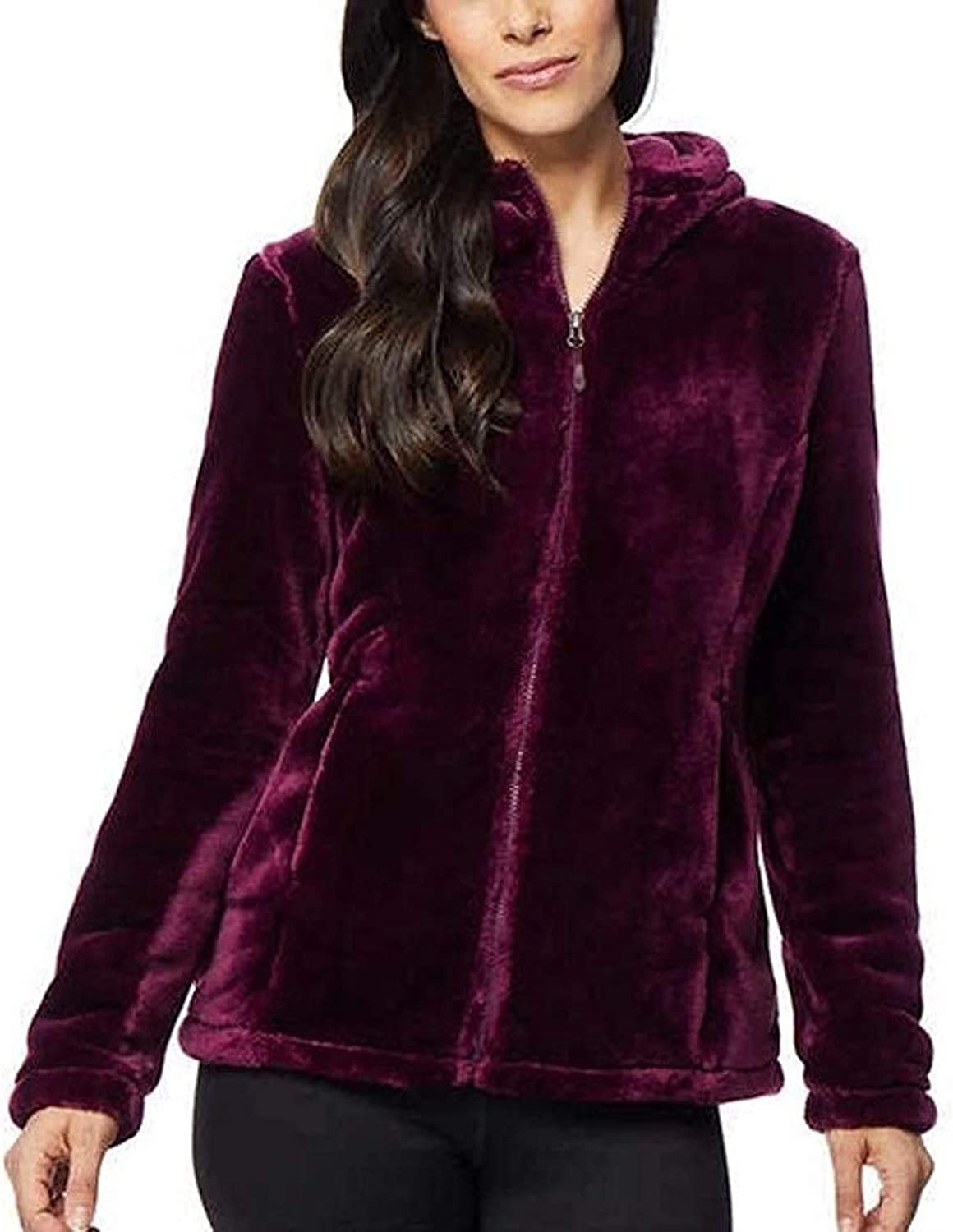 32 Degrees Fleece Quilted Funnel-Neck Top S $46