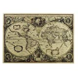 Retro Wall Map/Office Decoration Map/World Map/Coffee Mural