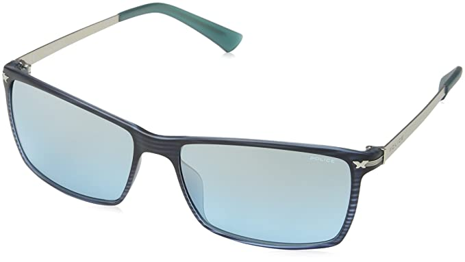 Police S195758G32M Gafas de sol, Azul, 58 para Hombre ...