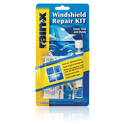 RainX Fix A Windshield Do It Yourself Windshield Repair Kit, For Chips,  Cracks,