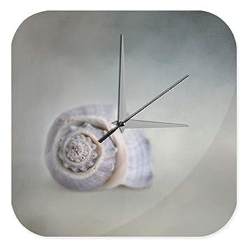 Reloj De Pared Océanos Decoración Almeja marítima Plexiglas: Amazon.es: Hogar