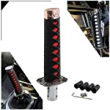 RYANSTAR Katana Shift Knob Samurai Sword Gear Shifter with 4 Adapters Universal Fit Compatible with Manual Cars Most…
