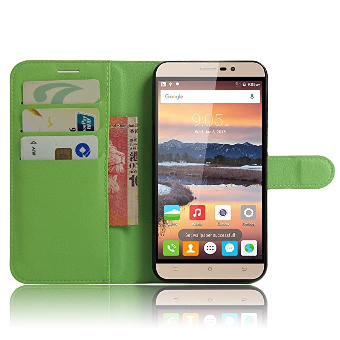 "57 opinioni per CUBOT Note S (5.5"") Wallet Cover, SMTR Custodia In Pelle Con Wallet Case Cover"