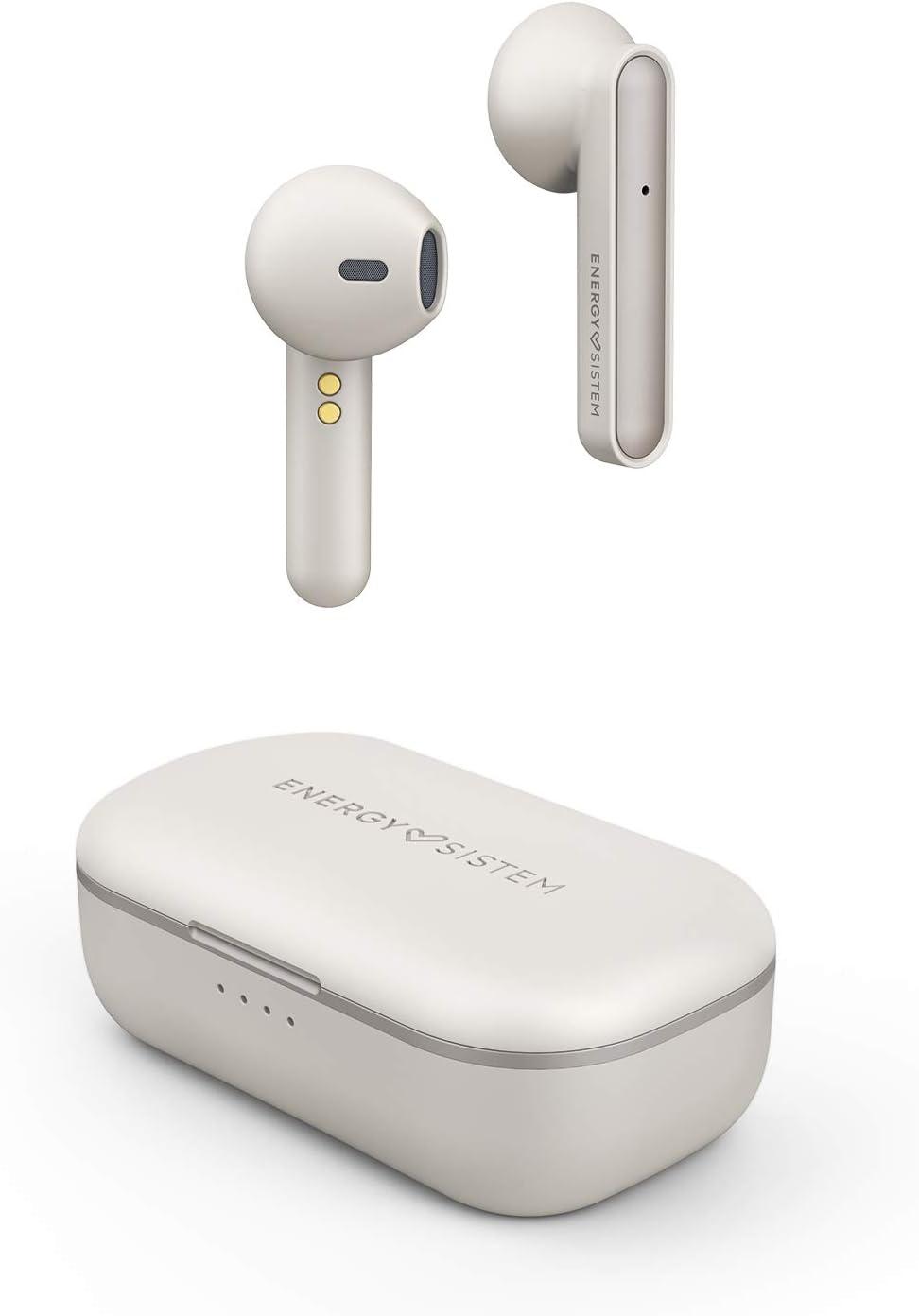 Energy Sistem Style 3 Auriculares inalambricos True Wireless Ivory (20h de autonomía, Estuche de Carga inalámbrica, Llamadas stéreo, micrófono Integrado,conectividad automática, Bluetooth 5.0) Marfil: Amazon.es: Electrónica