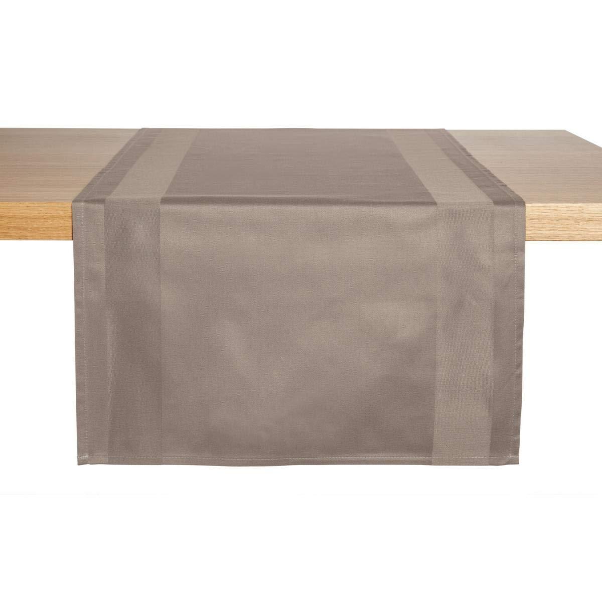 Tischläufer Ambiente, 40x130cm (BxL), steingrau, rechteckig, 2 Stück/Packung