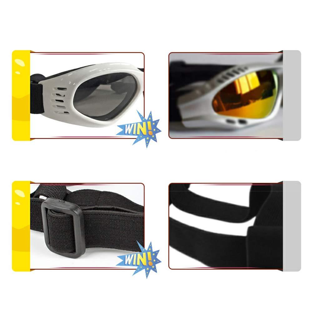 Hihey Occhiali da Sole per Cani Occhiali per Cani Occhiali da Sole per Cani Occhiali per Cani Piccoli//Medi Pieghevoli Protezione per Gli Occhi Impermeabile Protezione UV Anti-Fog Regolabile