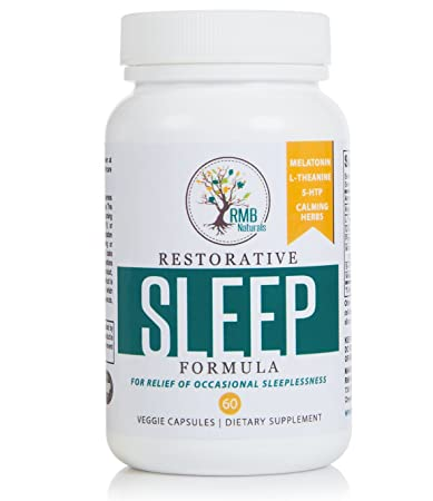 Natural Sleeping pills with Melatonin - Extra Strength for Great Sleep. Naturally Drug Free with