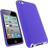 igadgitz Viola Case Silicona Funda Cover Carcasa para Apple iPod Touch 4ª Gen + Pantalla Protector