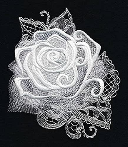 Rose Embroidered Towels: Amazon.com: Rose Design Embroidered Hand Towel: Handmade