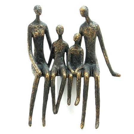 sitting family shelf sculpture in bronze finish amazon co uk