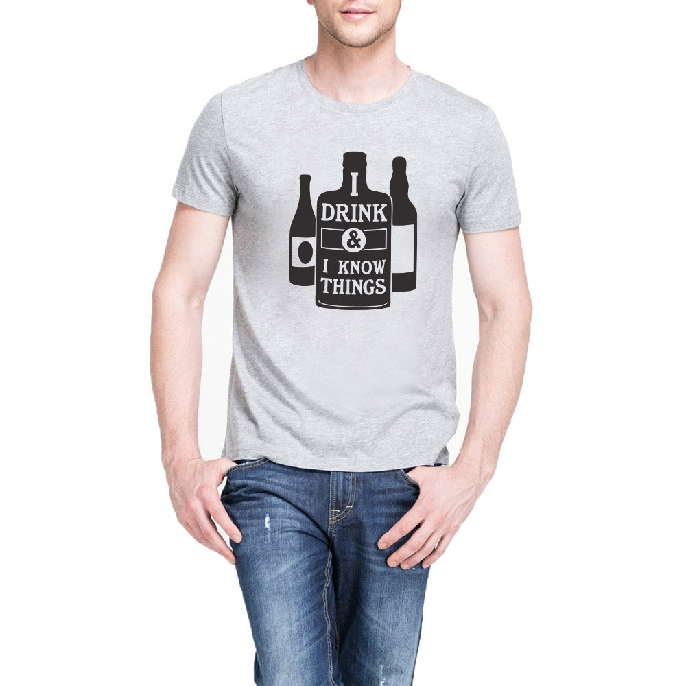 Loo Show S I Drink I Know Things Casual T Shirts Tee