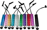 StarNova(TM) 10 X Mini STYLUS PENS - Pack of 10 High Quality HQ, HIGH CAPACITIVE Mini STYLUS TOUCH PENS FOR IPAD 1, IPAD 2 New Apple iPad & iPad 3, ipad 4, ipad mini, Apple iPhone 5 5th 5G, IPHONE 4 4S, IPHONE 3GS, IPOD TOUCH 3 - IPOD TOUCH 4, SAMSUNG GALAXY TAB2 10.1 SAMSUNG GALAXY S3 i9300 - SAMSUNG GALAXY S2 i9100, SAMSUNG GALAXY ACE S5830 - HTC, Tablet pc, Asus Tablets, Advent, Samsung Galaxy, Blackberry Playbook & Phones, Smart phones, Android, Mobile Phones, PC, Nokia, LG, Sony Ericsson, Nexus and all other Capacitive Screens Devices - Universal Stylus Touchscreen pens