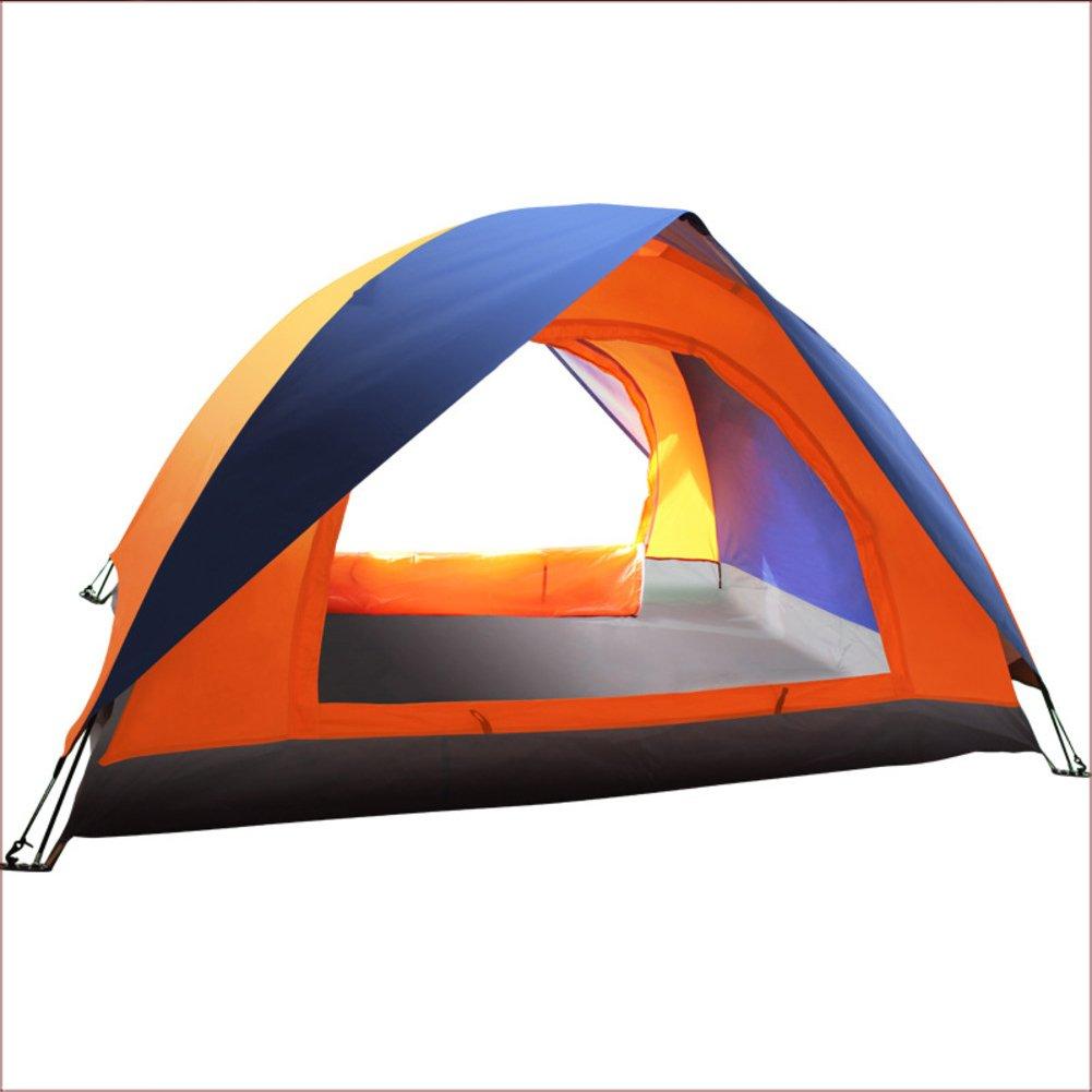 TY&WJ Campingzelt,Kuppelzelte Outdoor Zelten Grillmöglichkeiten Und Grill Freizeit Reise Doppeltür Familienzelt Double Layer 2 Personen
