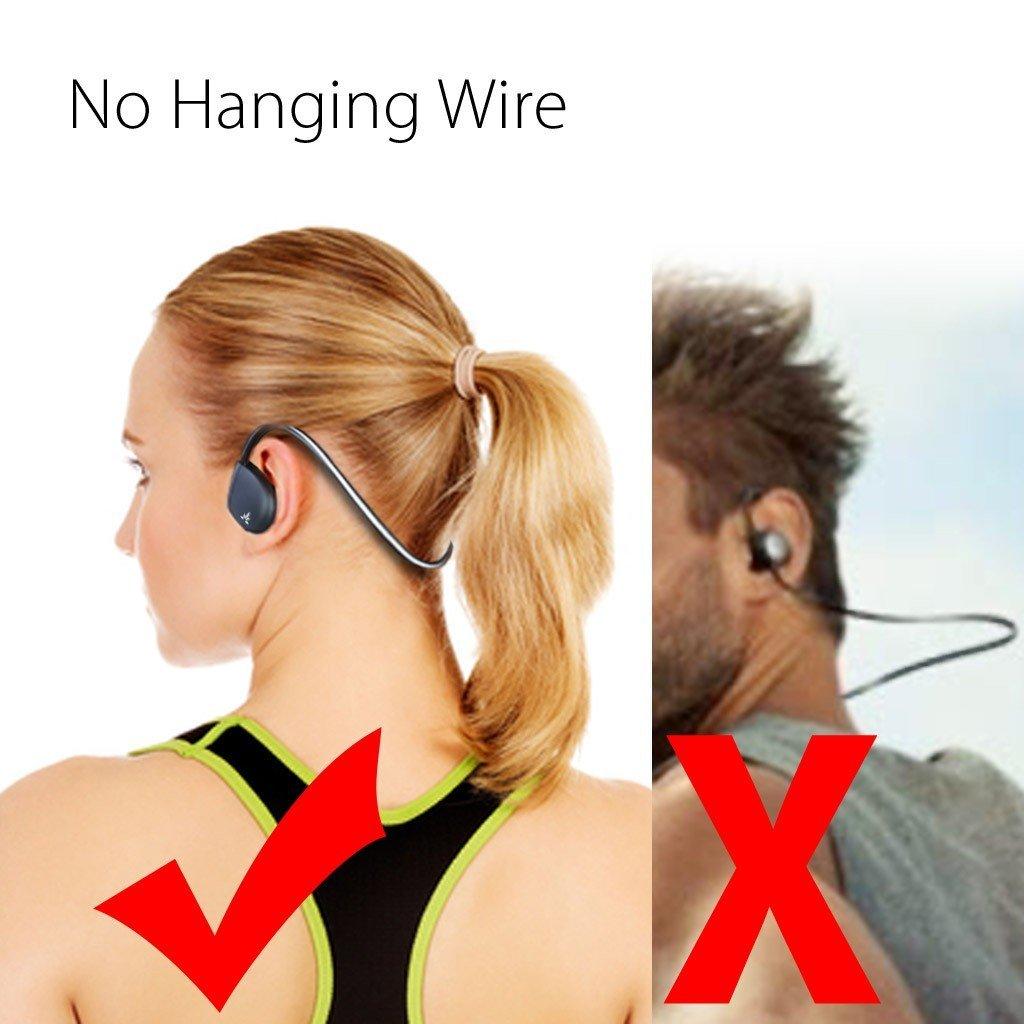 Avantree Auriculares Bluetooth Inalámbricos con Micrófono Resistentes al Sudor IPX4, Cascos Deportivos sin Sables con Ganchos Flexibles para Hacer Deporte, ...