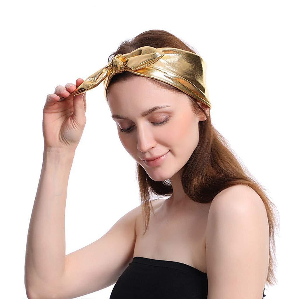 Amazon.com: Ganne Women Bow Knot Elastic Turban Head Wrap ...