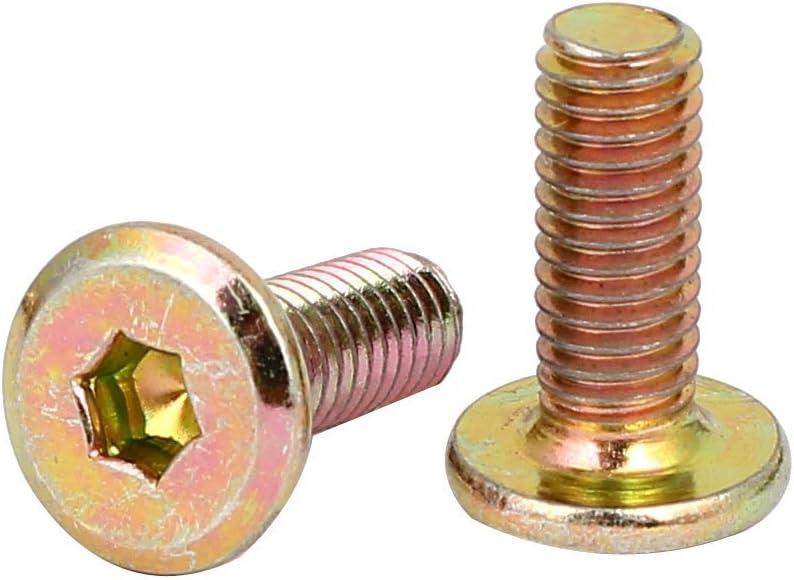 50Stk M6x15mm flach Innensechskant Kopf Hexagon M/öbel Schrauben Stecker Fastener