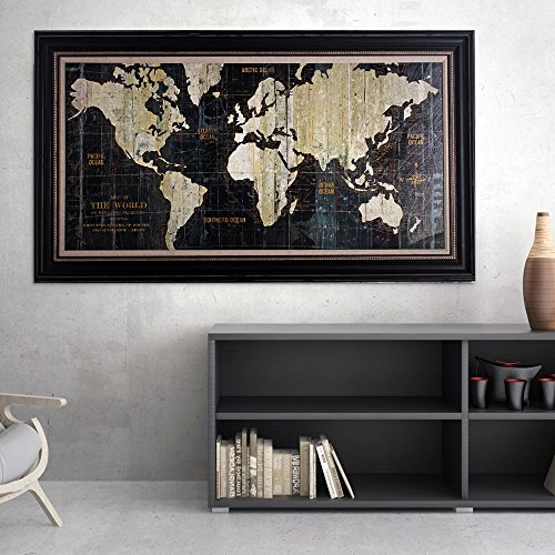 MasterPieces Old World Map Premium Hand Embellished Canvas Wall Art by MasterPieces