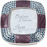 Pavilion - Purple Sparkle Picture Frame Keepsake Box Jewelry Holder
